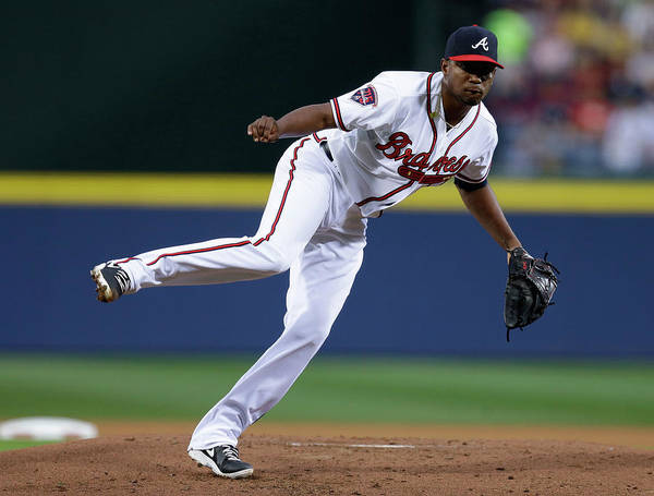 Atlanta Poster featuring the photograph Julio Teheran by Mike Zarrilli