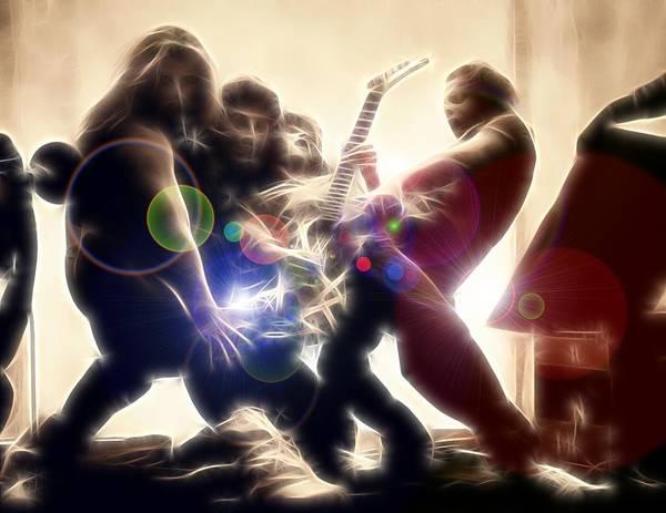 Van Halen Poster featuring the digital art JUMP - Van Halen by Fred Larucci