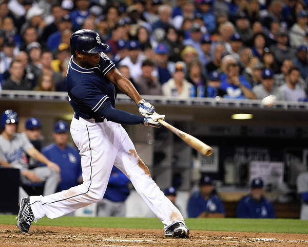 People Poster featuring the photograph Justin Upton by Denis Poroy