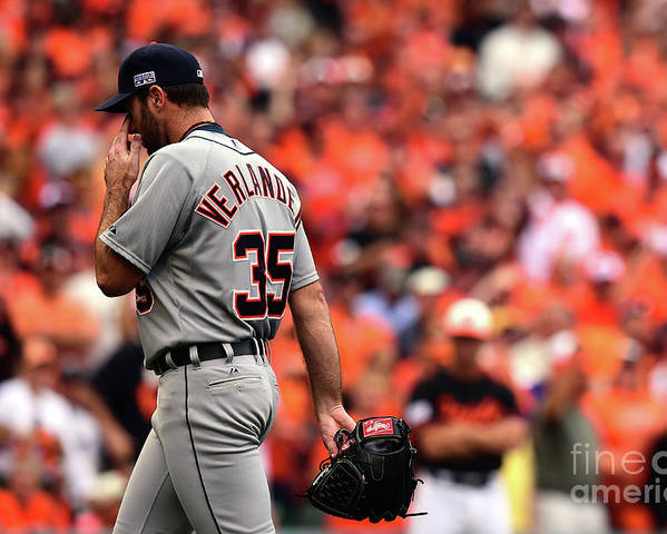 Game Two Poster featuring the photograph Justin Verlander by Patrick Smith