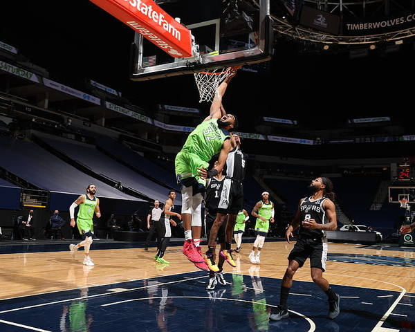 Nba Pro Basketball Poster featuring the photograph Karl-anthony Towns by David Sherman