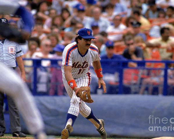 1980-1989 Poster featuring the photograph Keith Hernandez by Mike Powell