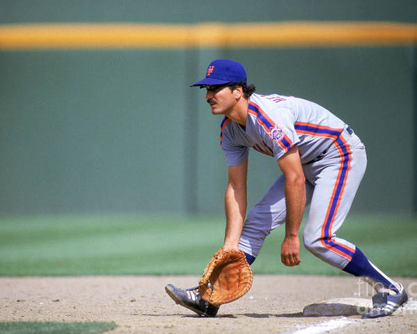 1980-1989 Poster featuring the photograph Keith Hernandez by Stephen Dunn