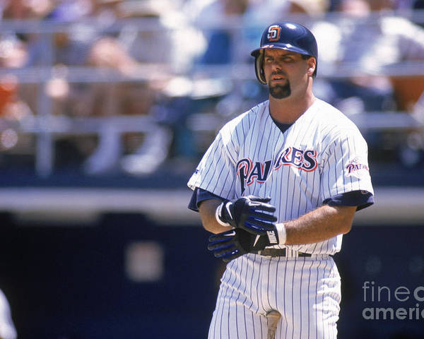 Adjusting Poster featuring the photograph Ken Caminiti by Otto Greule Jr