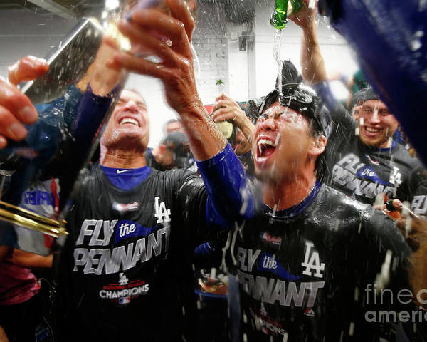 Championship Poster featuring the photograph Kenta Maeda by Jamie Squire