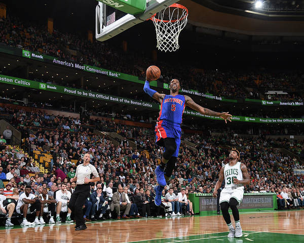 Nba Pro Basketball Poster featuring the photograph Kentavious Caldwell-pope by Brian Babineau