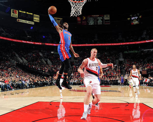 Nba Pro Basketball Poster featuring the photograph Kentavious Caldwell-pope by Cameron Browne