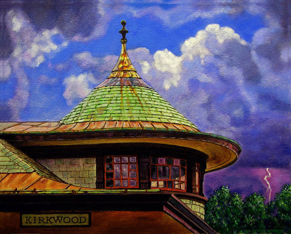 Kirkwood Poster featuring the painting Kirkwood Train Station by John Lautermilch