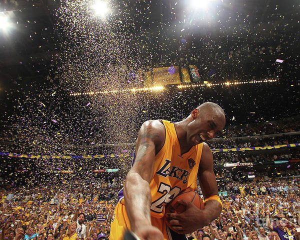 Playoffs Poster featuring the photograph Kobe Bryant by Nathaniel S. Butler