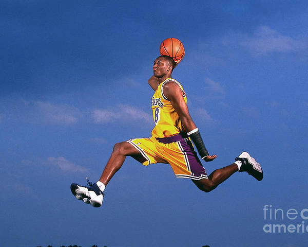 Event Poster featuring the photograph Kobe Bryant by Walter Iooss Jr.
