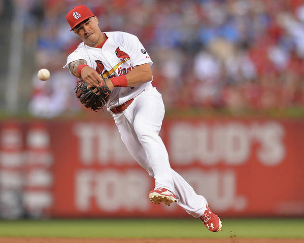 St. Louis Cardinals Poster featuring the photograph Kolten Wong by Michael Thomas