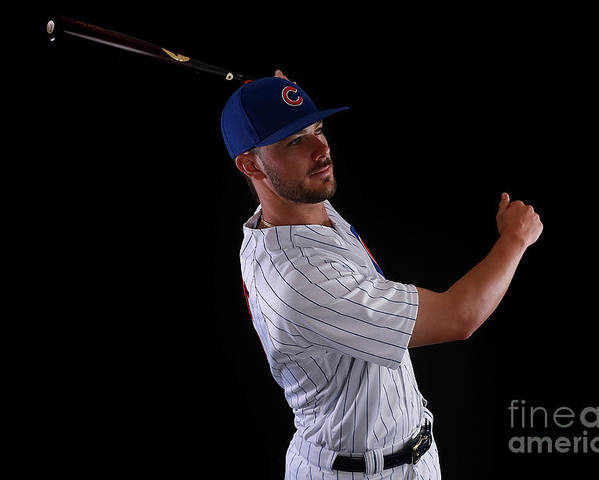 Media Day Poster featuring the photograph Kris Bryant by Gregory Shamus