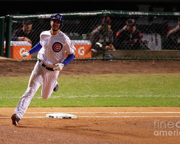 People Poster featuring the photograph Kris Bryant by Jamie Squire