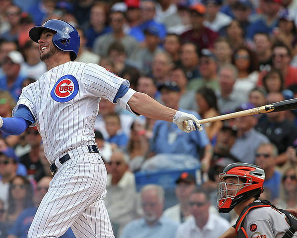 People Poster featuring the photograph Kris Bryant by Jonathan Daniel