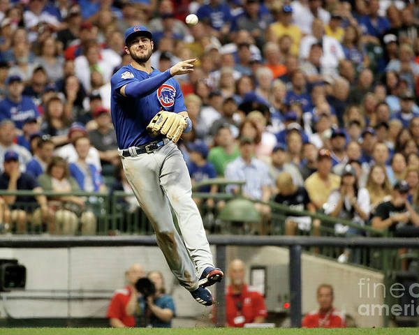 People Poster featuring the photograph Kris Bryant by Stacy Revere