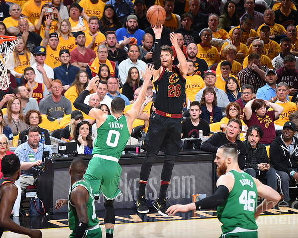 Playoffs Poster featuring the photograph Kyle Korver by Brian Babineau
