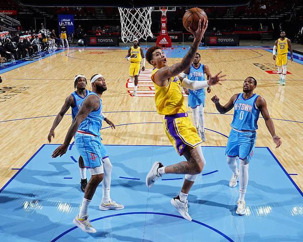 Nba Pro Basketball Poster featuring the photograph Kyle Kuzma by Cato Cataldo