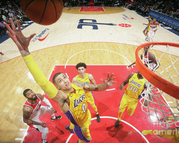 Nba Pro Basketball Poster featuring the photograph Kyle Kuzma by Ned Dishman