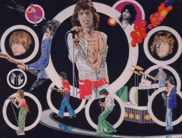 The Rolling Stones Poster featuring the drawing Ladies And Gentlemen - The Rolling Stones by Sean Connolly