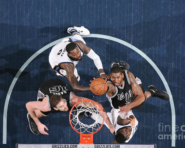 Playoffs Poster featuring the photograph Lamarcus Aldridge by Joe Murphy