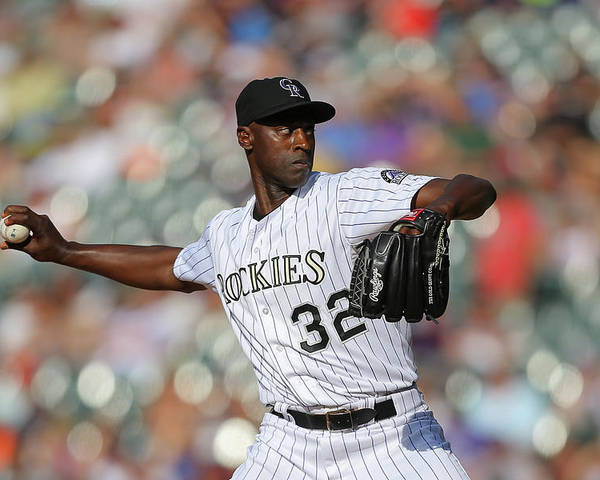 Ninth Inning Poster featuring the photograph Latroy Hawkins by Justin Edmonds
