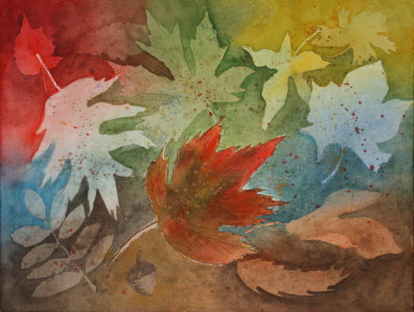 Leaves Poster featuring the painting Leaves II by Patricia Novack