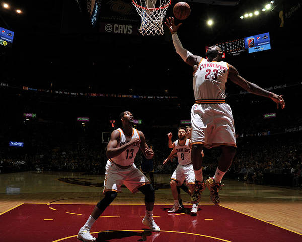 Playoffs Poster featuring the photograph Lebron James by Garrett Ellwood