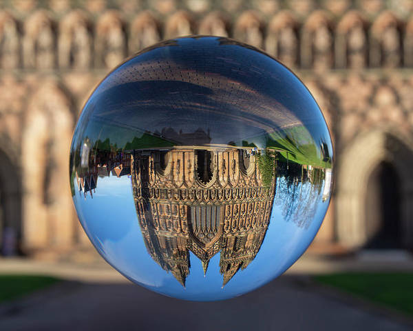 Lichfield Poster featuring the photograph Lichfield lens ball by Steev Stamford