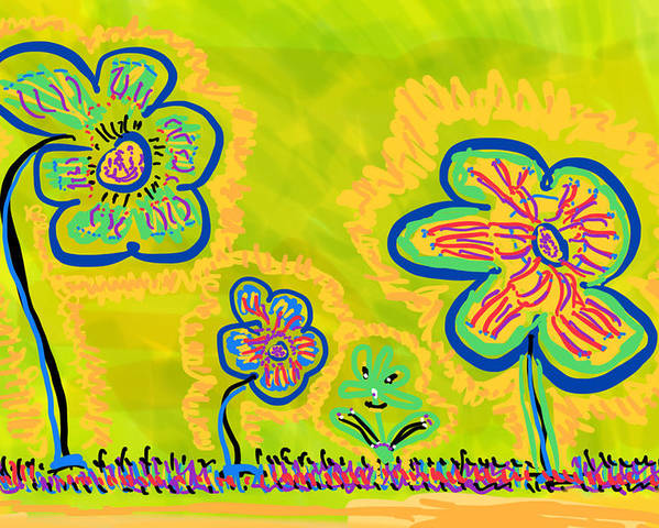 Spring Poster featuring the drawing Looking for Spring by Pam Roth O'Mara
