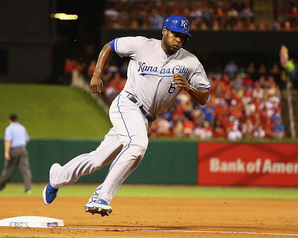 American League Baseball Poster featuring the photograph Lorenzo Cain by Dilip Vishwanat