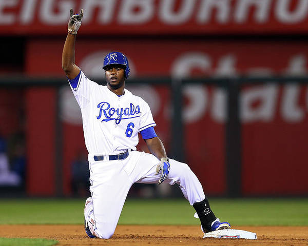 Game Two Poster featuring the photograph Lorenzo Cain by Elsa