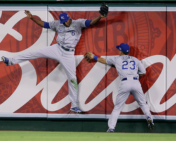 American League Baseball Poster featuring the photograph Lorenzo Cain by Jeff Gross