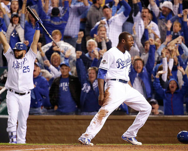 People Poster featuring the photograph Lorenzo Cain by Rob Carr