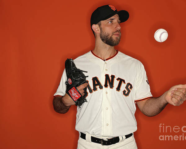Media Day Poster featuring the photograph Madison Bumgarner by Patrick Smith
