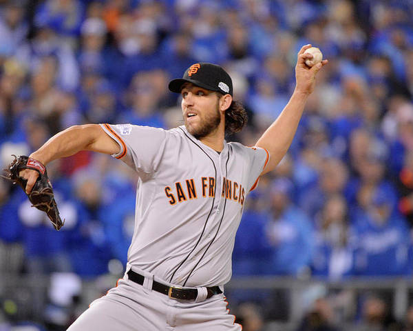 Playoffs Poster featuring the photograph Madison Bumgarner by Ron Vesely