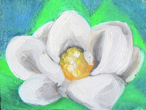 Poster featuring the painting Magnolia Continues by Loretta Nash
