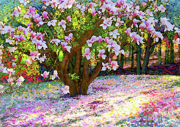 Landscape Poster featuring the painting Magnolia Melody by Jane Small