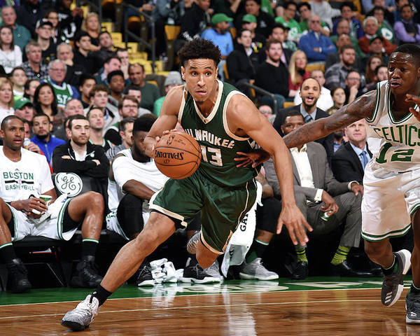 Nba Pro Basketball Poster featuring the photograph Malcolm Brogdon by Brian Babineau