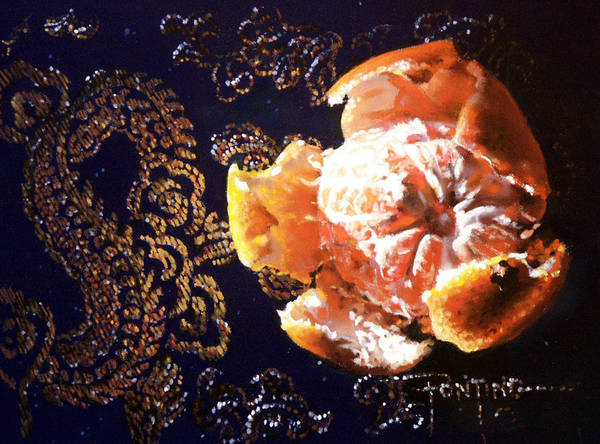 Mandarin Poster featuring the painting Mandarin by Dianna Ponting