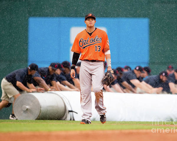 People Poster featuring the photograph Manny Machado by Jason Miller