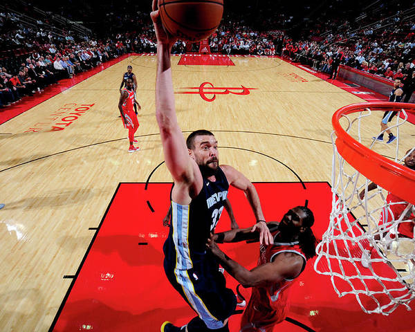 Nba Pro Basketball Poster featuring the photograph Marc Gasol by Bill Baptist