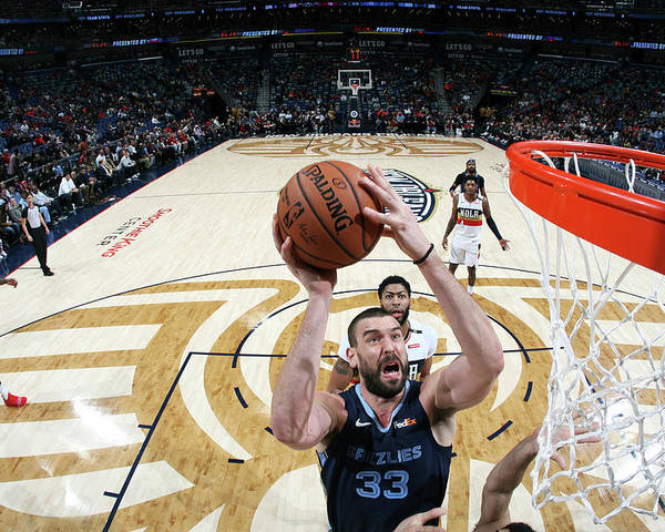 Smoothie King Center Poster featuring the photograph Marc Gasol by Layne Murdoch Jr.