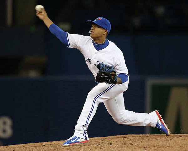American League Baseball Poster featuring the photograph Marcus Stroman by Tom Szczerbowski