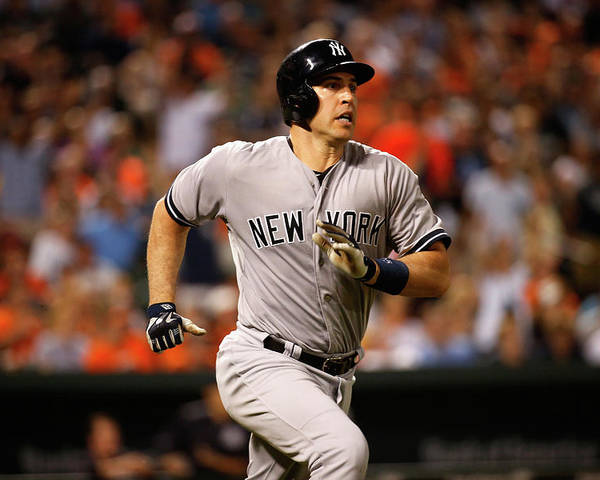 Following Poster featuring the photograph Mark Teixeira by Rob Carr