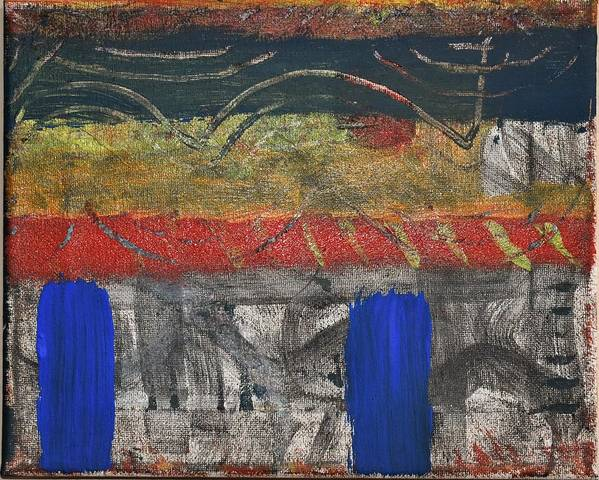 Abstract Poster featuring the painting Marking 01 by Pam Roth O'Mara