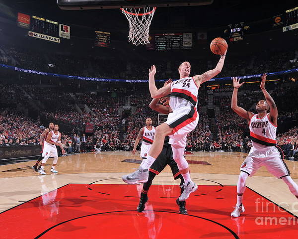 Nba Pro Basketball Poster featuring the photograph Mason Plumlee by Sam Forencich