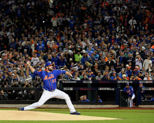 Matt Harvey Poster featuring the photograph Matt Harvey by Ron Vesely