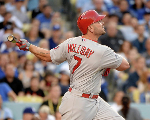 St. Louis Cardinals Poster featuring the photograph Matt Holliday by Harry How