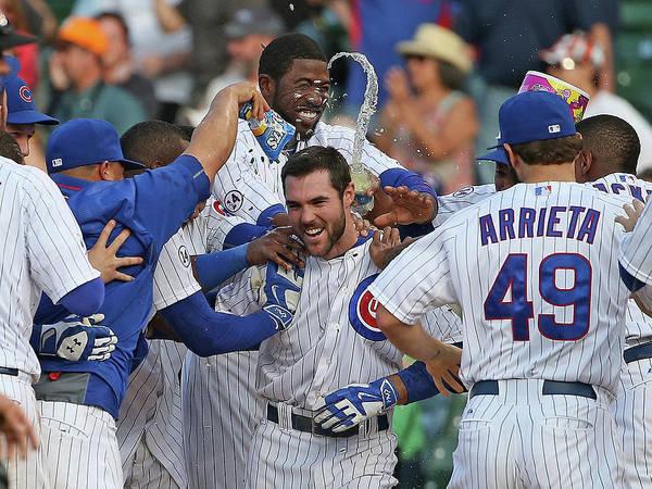 National League Baseball Poster featuring the photograph Matt Szczur by Jonathan Daniel