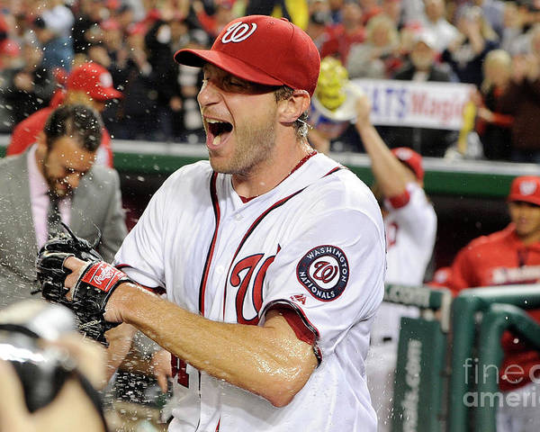 People Poster featuring the photograph Max Scherzer by Greg Fiume
